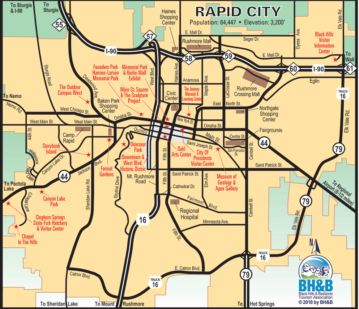 Rapid City Map